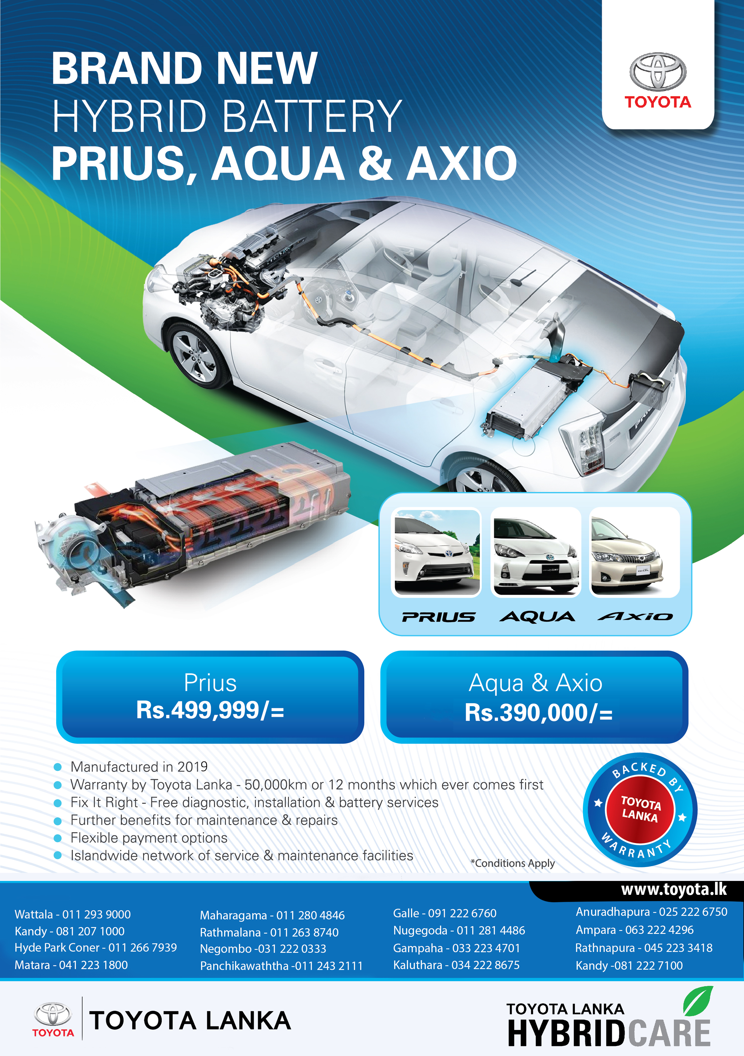 Spare Parts | Toyota Lanka (Private) Limited
